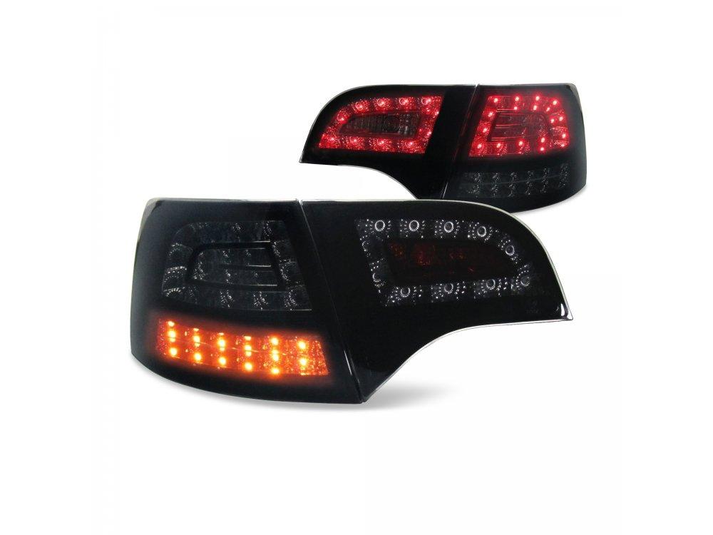 Задние фонари Urban Style LED Black Smoke на Audi A4 B7 Avant