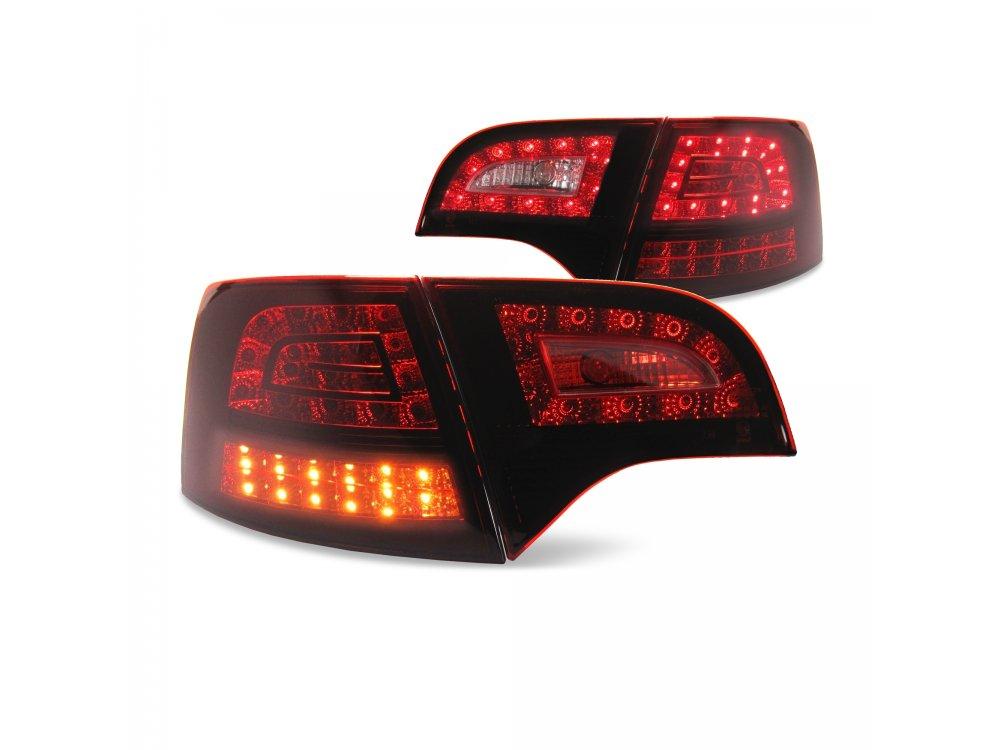 Задние фонари Urban Style LED Red Smoke на Audi A4 B7 Avant