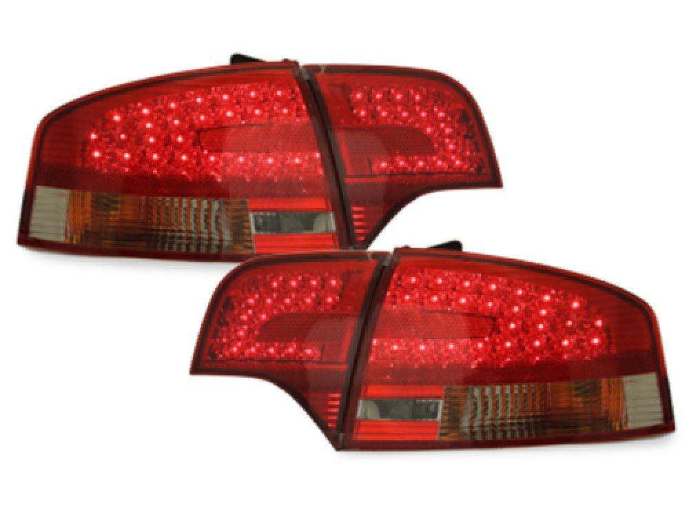 Задние диодные фонари LED Red Smoke на Audi A4 B7