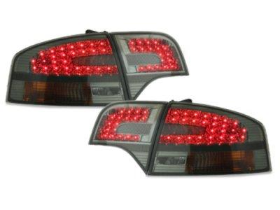Задние диодные фонари LED Smoke на Audi A4 B7