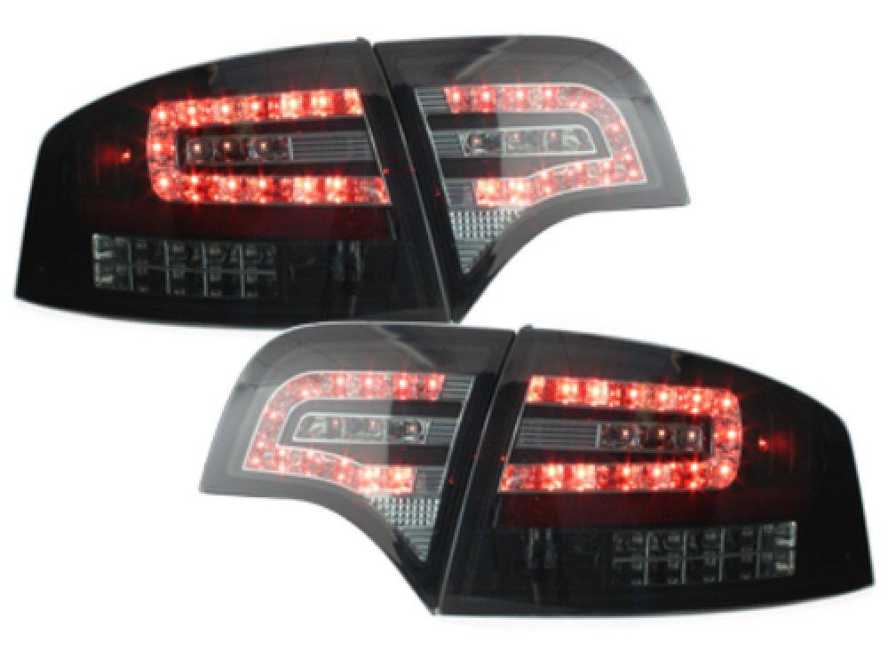 Задние фонари LED Black Smoke на Audi A4 B7