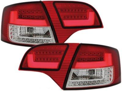 Задние диодные фонари Litec LED Red Crystal на Audi A4 B7 Avant