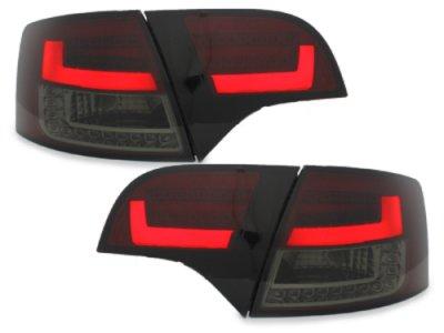 Задние диодные фонари Litec LED Red Smoke на Audi A4 B7 Avant