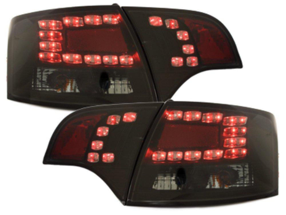 Задние фонари LED Black Smoke на Audi A4 B7 Avant
