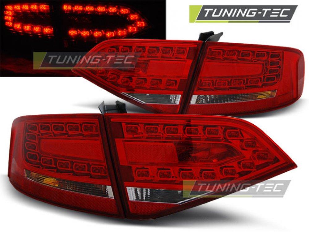 Задние диодные фонари LED Red Crystal V3 на Audi A4 B8