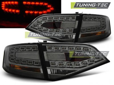 Задние диодные фонари LED Smoke на Audi A4 B8