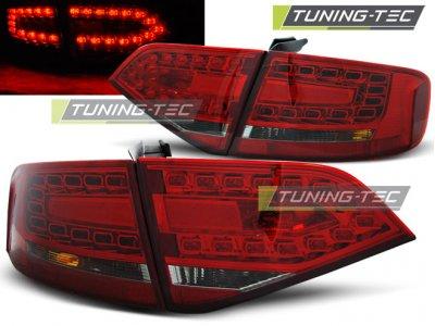 Задние диодные фонари LED Red Smoke Var2 на Audi A4 B8