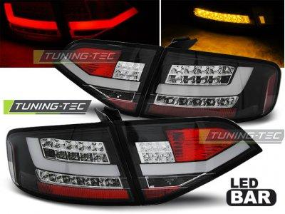 Задние фонари Litec LED Black на Audi A4 B8