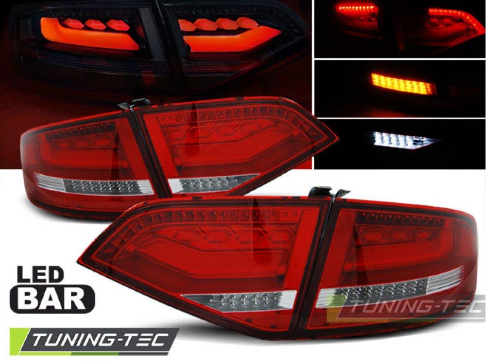 Задние фонари Full LED Red Crystal на Audi A4 B8