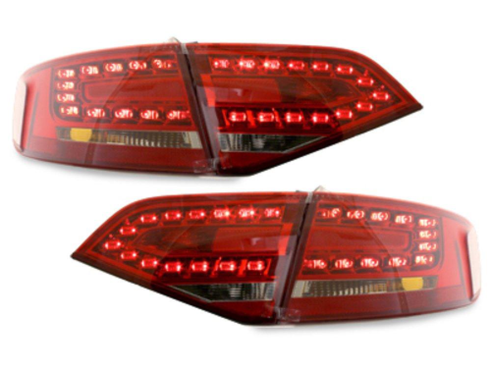Задние диодные  фонари LED Red Crystal на Audi A4 B8