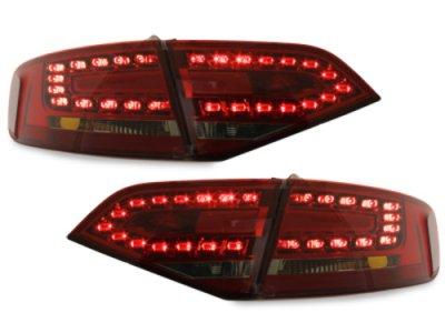 Задние диодные фонари LED Red Smoke на Audi A4 B8