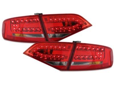 Задние фонари LED Red Crystal на Audi A4 B8