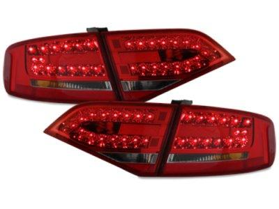 Задние фонари LED Red Smoke на Audi A4 B8