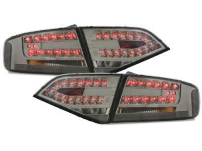 Задние фонари LED Smoke на Audi A4 B8