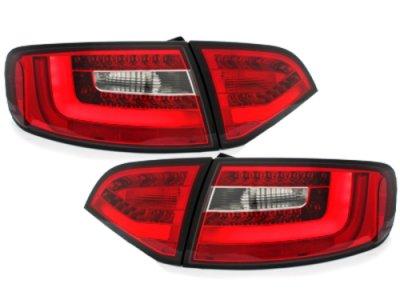 Задние фонари Litec LED Red Crystal на Audi A4 B8 Avant
