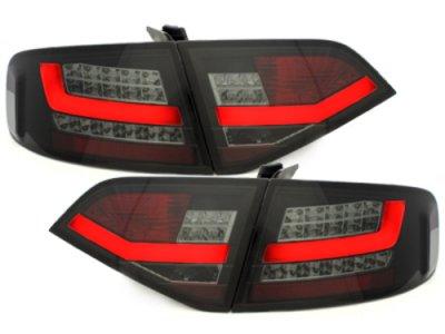 Задние светодиодные фонари LED Black Smoke на Audi A4 B8
