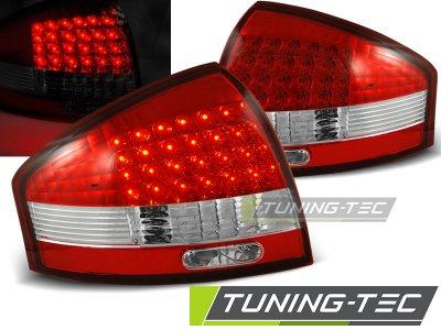 Задние тюнинговые фонари LED Red Crystal на Audi A6 C5
