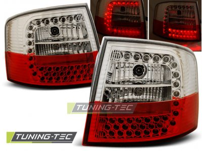 Задние диодные фонари LED Red Crystal на Audi A6 C5 Avant