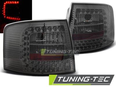 Задние диодные фонари LED Smoke на Audi A6 C5 Avant