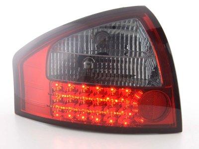 Задние диодные фонари LED Red Smoke на Audi A6 C5