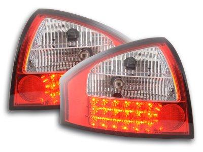 Задние фонари LED Red Crystal на Audi A6 C5