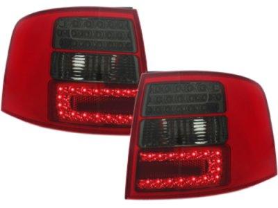 Задние фонари LED Red Smoke на Audi A6 C5 Avant