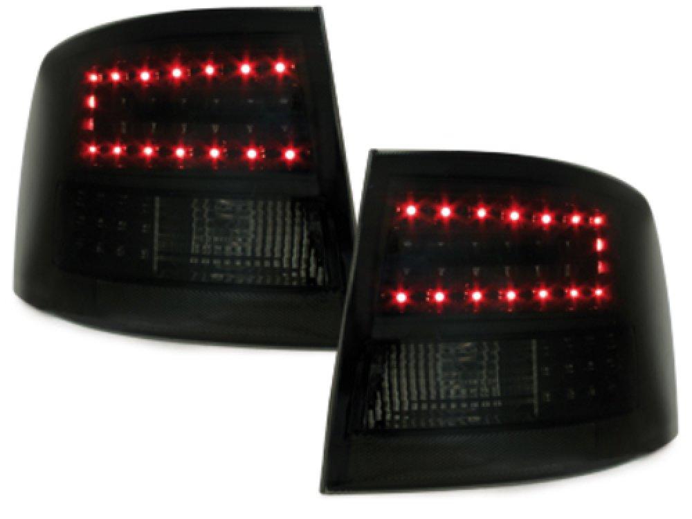 Задние фонари LED Black Smoke на Audi A6 C5 Avant
