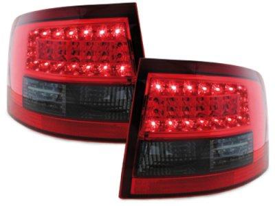 Задние фонари Litec LED Red Smoke на Audi A6 C5 Avant