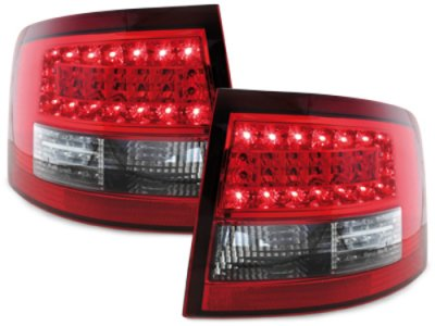Задние фонари Litec LED Red Crystal на Audi A6 C5 Avant
