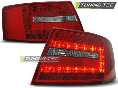 Задние фонари LED Red Crystal Var2 на Audi A6 C6