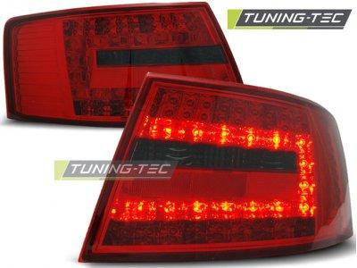Задние фонари LED Red Smoke Var2 на Audi A6 C6