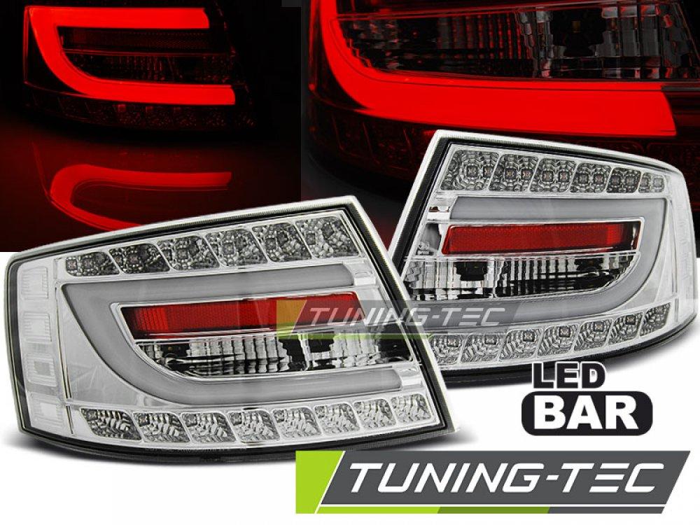 Задние диодные фонари LED Chrome на Audi A6 C6
