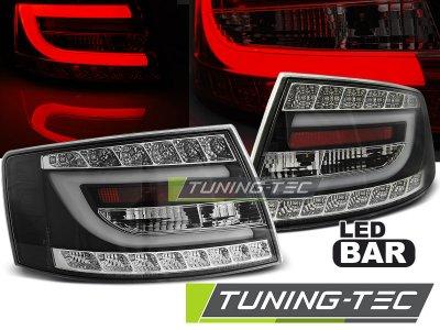 Задние диодные фонари LED Black на Audi A6 C6