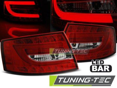 Задние диодные фонари LED Red Crystal на Audi A6 C6