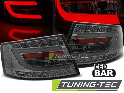 Задние диодные фонари LED Smoke на Audi A6 C6