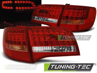 Задние фонари LED Red Crystal на Audi A6 C6 Avant