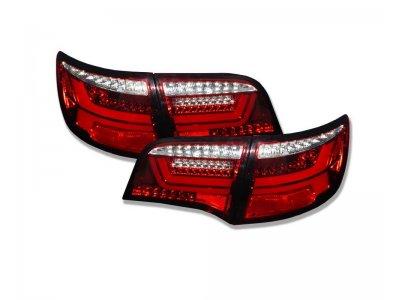 Задние фонари Dectane LED Dynamic Red Crystal на Audi A6 C6 Avant