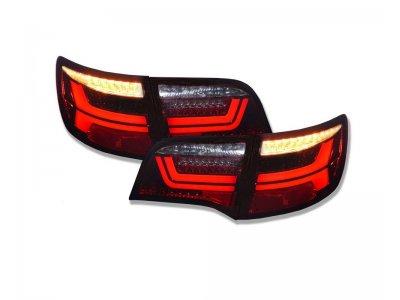 Задние фонари Dectane LED Dynamic Red Smoke на Audi A6 C6 Avant