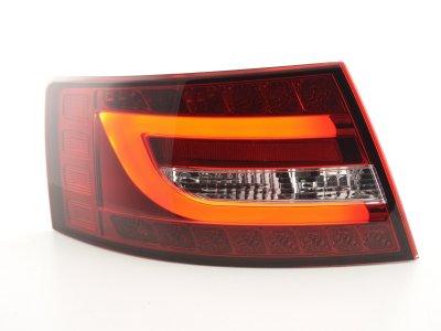 Задние фонари Neon Tube LED Red Crystal на Audi A6 C6