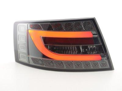 Задние фонари Neon Tube LED Smoke на Audi A6 C6