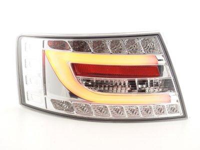 Задние фонари Neon Tube LED Chrome на Audi A6 C6