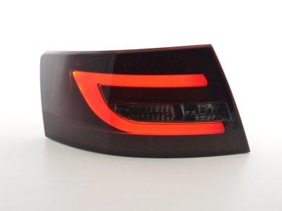 Задние фонари Neon Tube LED Red Smoke на Audi A6 C6