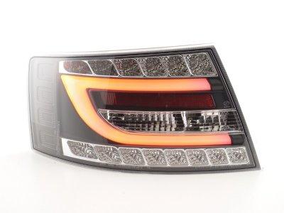 Задние фонари Neon Tube LED Black на Audi A6 C6