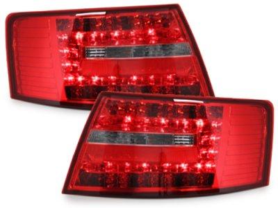 Задние фонари LED Red Crystal на Audi A6 C6