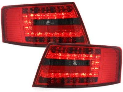 Задние фонари LED Red Smoke на Audi A6 C6