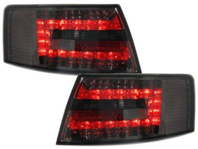 Задние фонари LED Smoke на Audi A6 C6