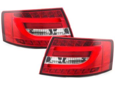 Задние фонари Litec LED Red Crystal на Audi A6 C6