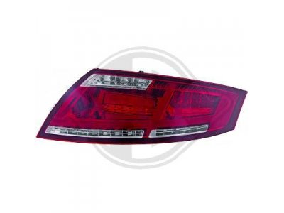 Задние диодные фонари от HD LED Red Crystal на Audi TT 8J