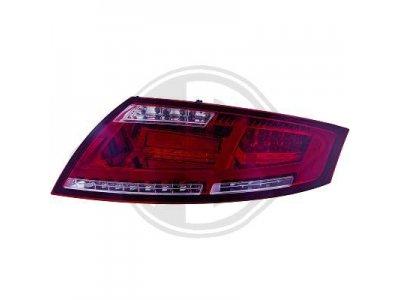 Задние диодные фонари от HD LED Red Smoke на Audi TT 8J
