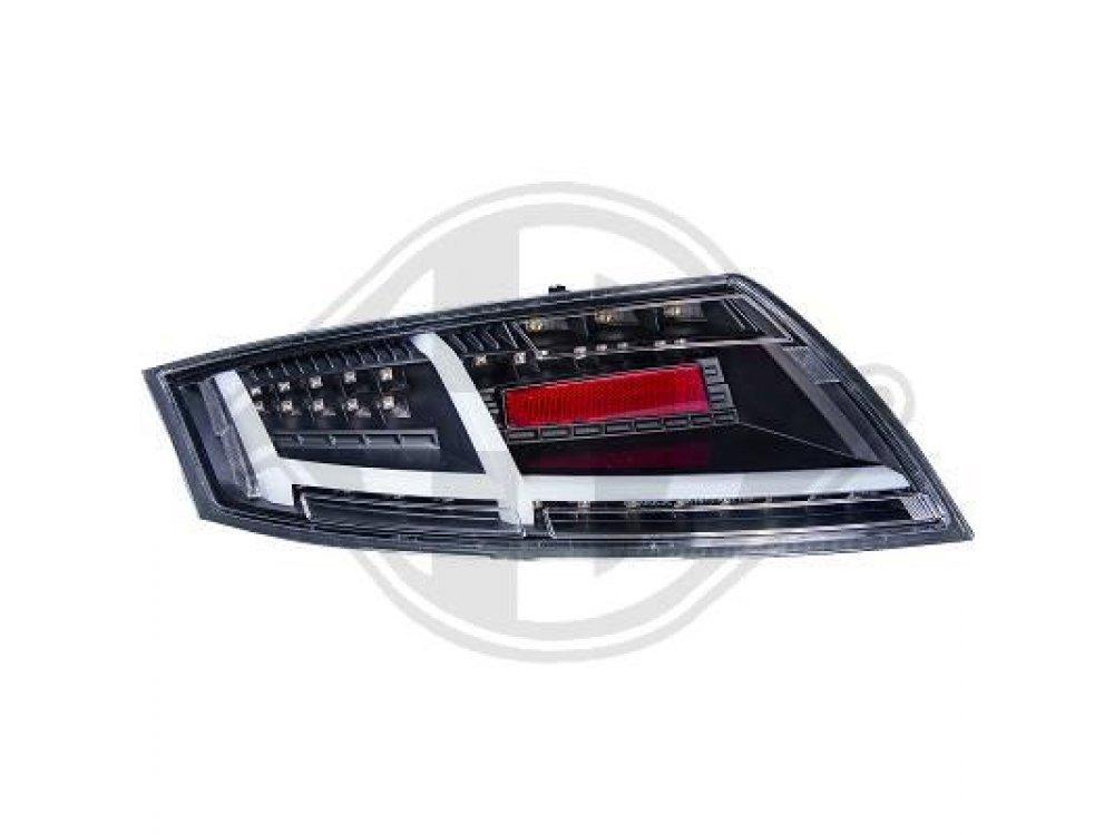Задние диодные фонари от HD LED Black на Audi TT 8J